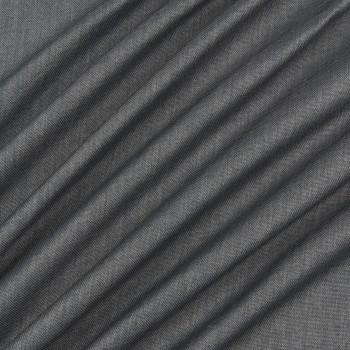 Ткань блэкаут рогожка темно-серый
