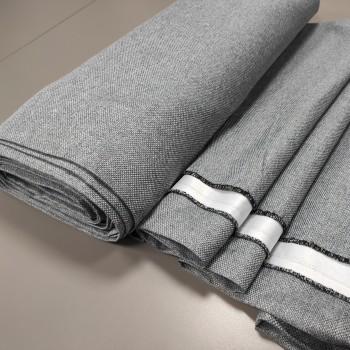 Ткань блэкаут рогожка серый