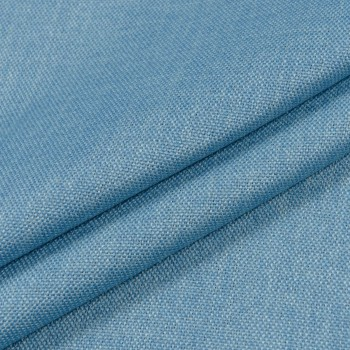 Ткань блэкаут рогожка голубой