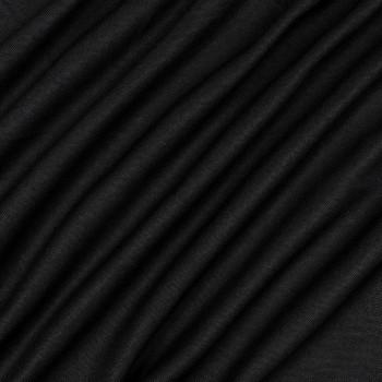Ткань блэкаут рогожка черный