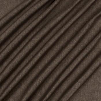 Ткань блэкаут рогожка коричневый