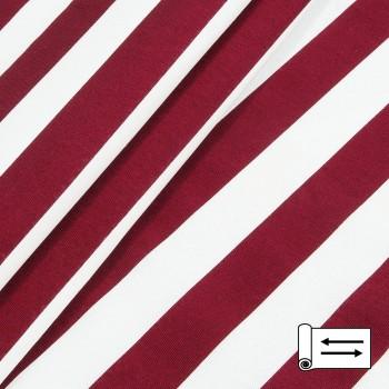 Декоративная ткань Талдо полоса красный 142341