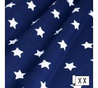 Декоративная ткань Звезды синий