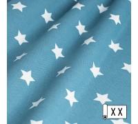 Декоративная ткань Звезды темная бирюза