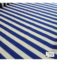 Декоративная ткань Талдо полоса синий