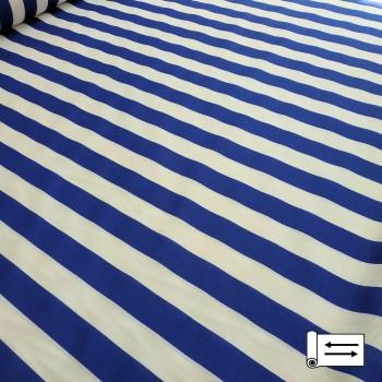 Декоративная ткань Талдо полоса синий 342341