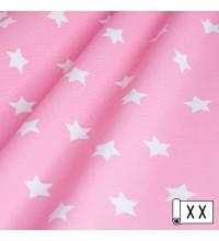 Декоративная ткань Звезды розовый