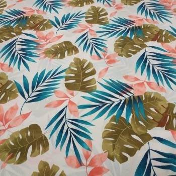 Декоративная ткань Тропики молочный