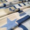 Ткань маяки голубой 64065