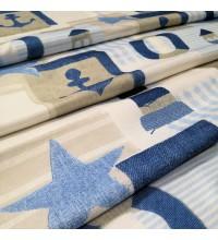 Ткань маяки голубой