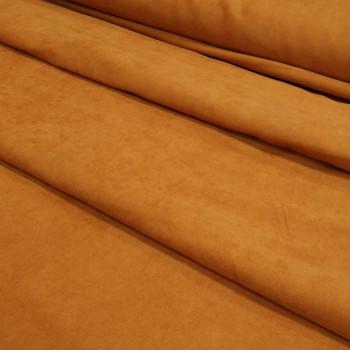 Ткань микровелюр Даймонд терракот 1403-107