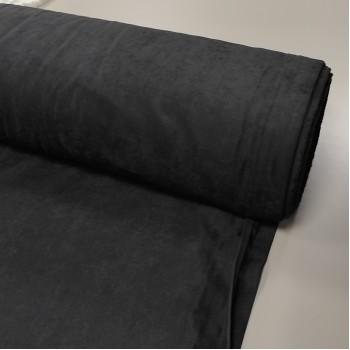 Ткань микровелюр Даймонд чёрный 1403-194