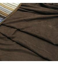 Ткань микровелюр Даймонд коричневый