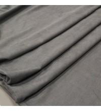 Ткань микровелюр Даймонд темно-серый