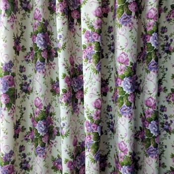 Ткань Андреа Букет цветов сирень 280 см 20002