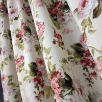 Ткань Элиана Букет розы крупные красный 280 см