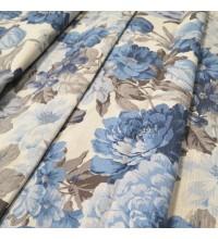 Ткань Датура крупные цветы голубой