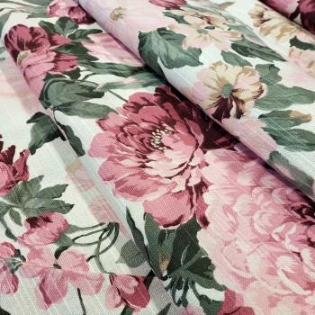 Ткань Датура крупные цветы розовый 417461