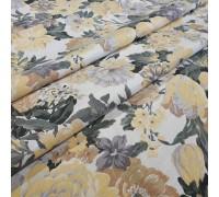 Ткань Датура крупные цветы желтый
