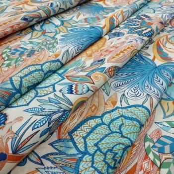 Ткань Паола цветы синий