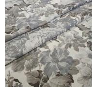 Ткань Датура крупные цветы серый