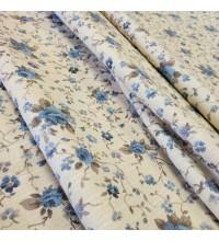 Ткань Ари мелкие розы голубой