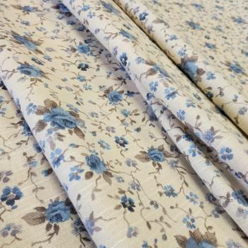 Ткань Ари мелкие розы голубой 817461