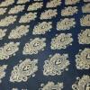 Ткань жаккард вензель синий 41534607