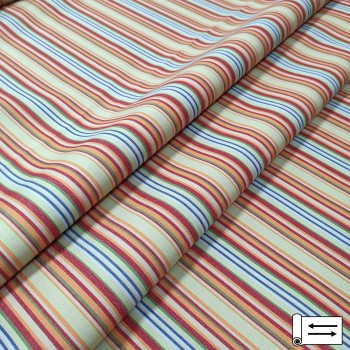 Ткань Дралон Javier полоса оранжевый