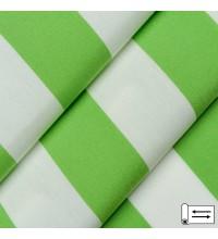 Ткань Дралон полоса зеленое яблоко 160 см