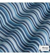 Ткань Дралон мелкая полоска синий