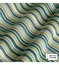 Ткань Дралон мелкая полоска зеленый