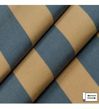 Ткань Дралон полоса беж-синий 160 см