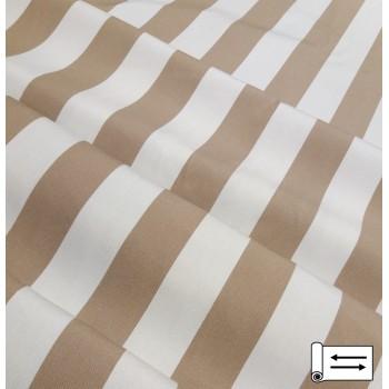 Ткань Дралон полоса беж-молочный 160 см