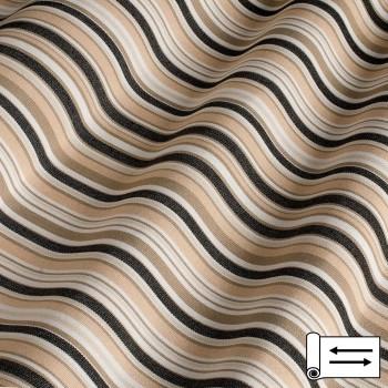 Ткань Дралон мелкая полоска бежевый