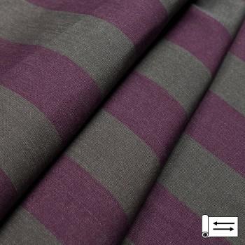 Ткань Дралон полоса серый-фиолетовый 160 см