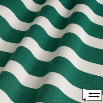 Ткань Дралон полоса зеленый 160 см