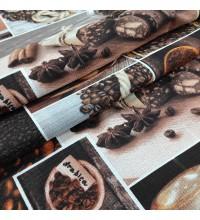 Ткань полотенечная вафельная Аромат кофе