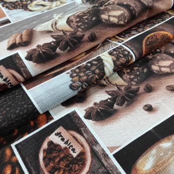 Ткань полотенечная вафельная Аромат кофе 181461