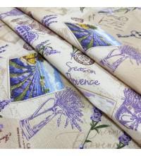 Ткань полотенечная вафельная Прованс лаванда