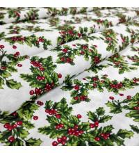Новогодняя ткань Megas белый