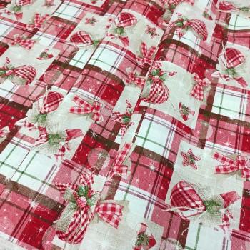 Новогодняя ткань Toys красный 913161