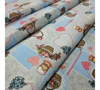 Скатертная ткань рогожка Пасхальная корзина