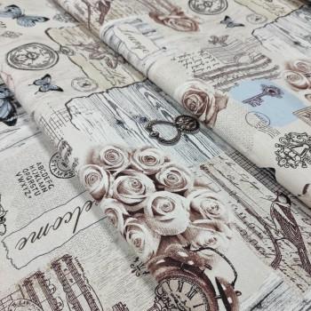 Скатертная ткань рогожка Либретто 354961