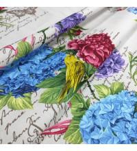 Скатертная ткань рогожка Гортензия
