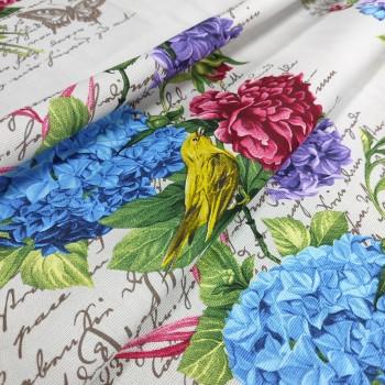 Скатертная ткань рогожка Гортензия 363561