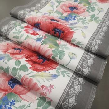 Ткань для дорожка раннер Маки 395351