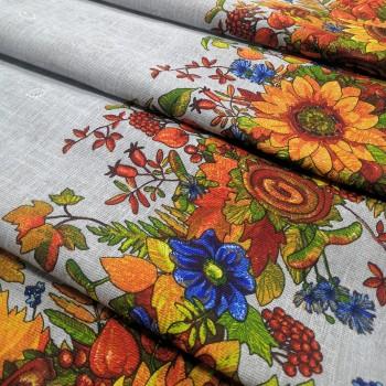 Скатертная ткань рогожка Золотая осень 471461