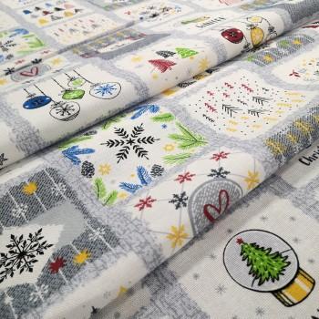 Новогодняя ткань для скатерти Рождество 475761