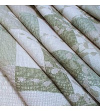 Скатертнаа ткань рогожка Вербное воскресенье оливковый
